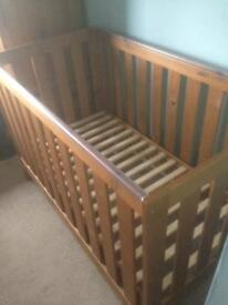 Next Cot bed. Made by real wood