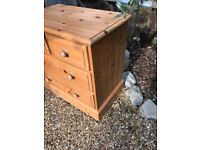 Pine two small draw/two large draw cupboard