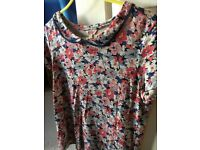 Cath Kidston blue and red floral top