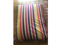 John Lewis stripes large bean bag