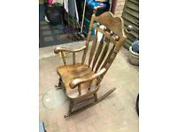 Large rocking chair - solid wood - free delivery local
