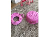 Peppa pig seat and step
