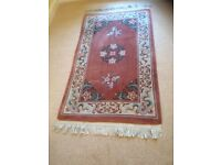 Lovely traditional Chinese style 100 % thick piled wool rug. Only selling due t o down sizing