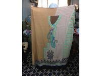 Cotton ( Linen) Kameez Fabric unstitched