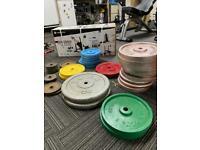 Gym Equipment - Cast Iron Weights / Bars / Weights Bench