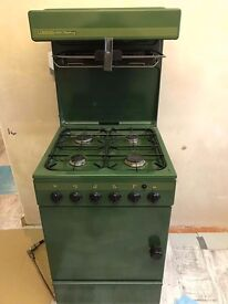 Calor gas freestanding cooker .green a used item working very well