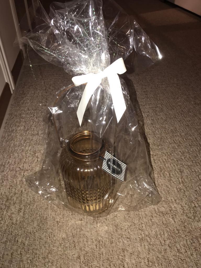 Brown Glass Lantern