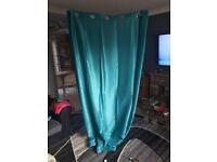 Teal curtains brand new