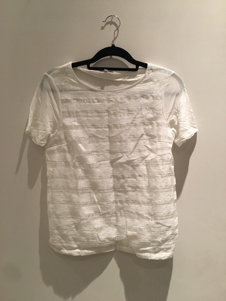Reiss Ladies T-Shirt XS White