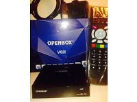 Openbox V6s with 12 month gift warranty service SD/HD SkYBOx
