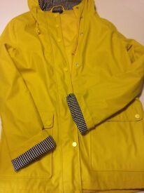 Women's Topshop yellow Rain Mac