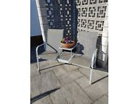 Two Seater Garden Chair with Glass dividing table