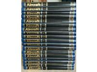 Complete collection of encyclopaedia of aircraft books.