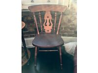Shabby Chic Wooden Chair with bohemian feel