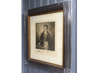 Old picture of Rabbie Burns , just been re-framed . Size 31in x 26in.