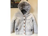 Next Girls 3-4 years jacket in grey