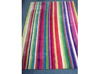 Ikea Strib Multi Coloured Striped Rug 100 Wool 200 X 140cm