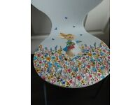 Hand crafted Peter Rabbit chair.