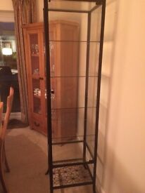 Iron and Glass Display Cabinet