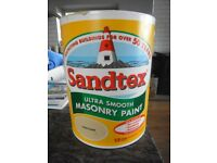 Sandtex Ultra Smooth Masonry Paint 5 Litres Sand Dune