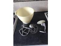 Kenwood chef mixing bowl and attachments