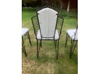 Set of 8 designer wrought iron dining chairs