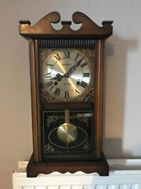 Vintage Highlands 31 Day Mechanical Wall Clock With Pendulum and Key