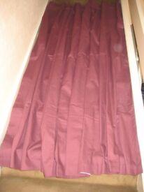 Sundour Maroon Fully Lined Curtain