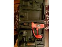 Black & Decker combi drill and screwdriver one battery comes with charger and case