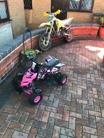 pink 50cc quad