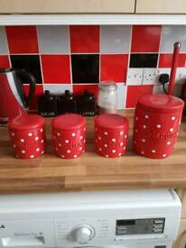 Next Kitchen China Canisters