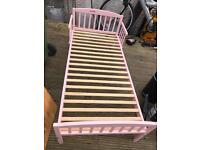 Quality Uber Pink Girls Kids Small Toddlers Child Bed Cot Nursery Bedroom Young Family Parents