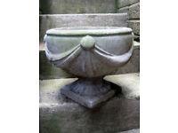 Stone garden urns 2 ,.pedestal planters