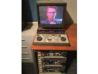 JVC S-VHS Editing Suite - BR S810E Video Recorders, RM-G860E, Broadcast Monitor