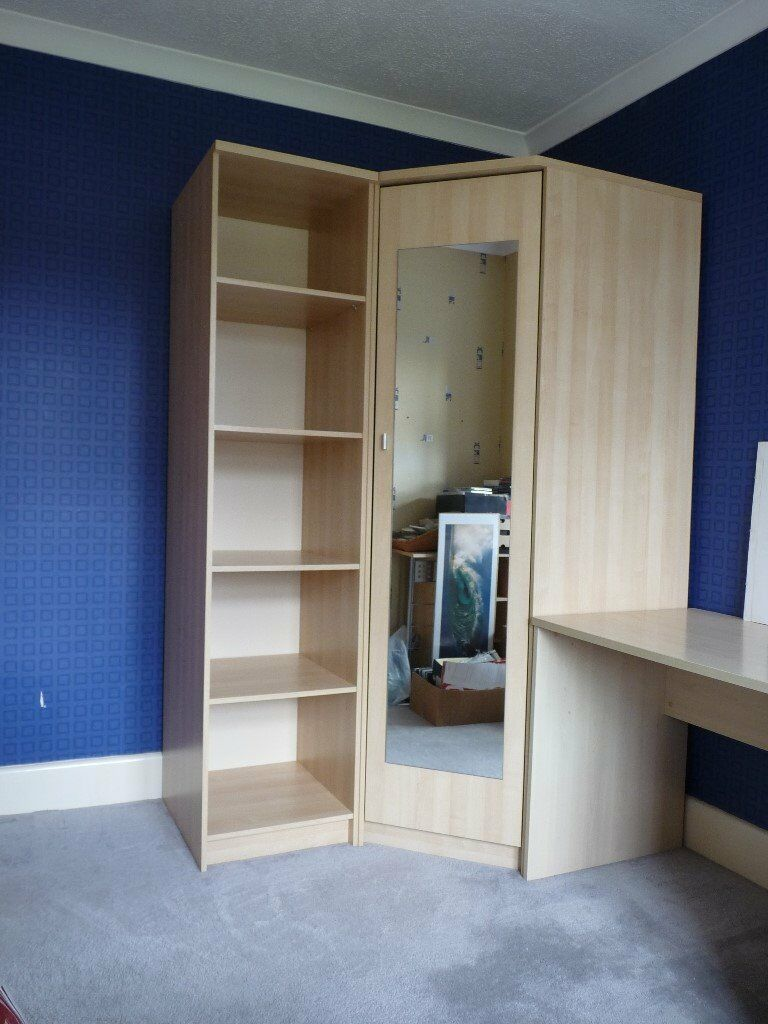 Corner Wardrobe And Shelving Unit In Wimborne Dorset