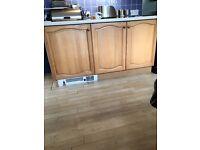 Kitchen cupboards pine