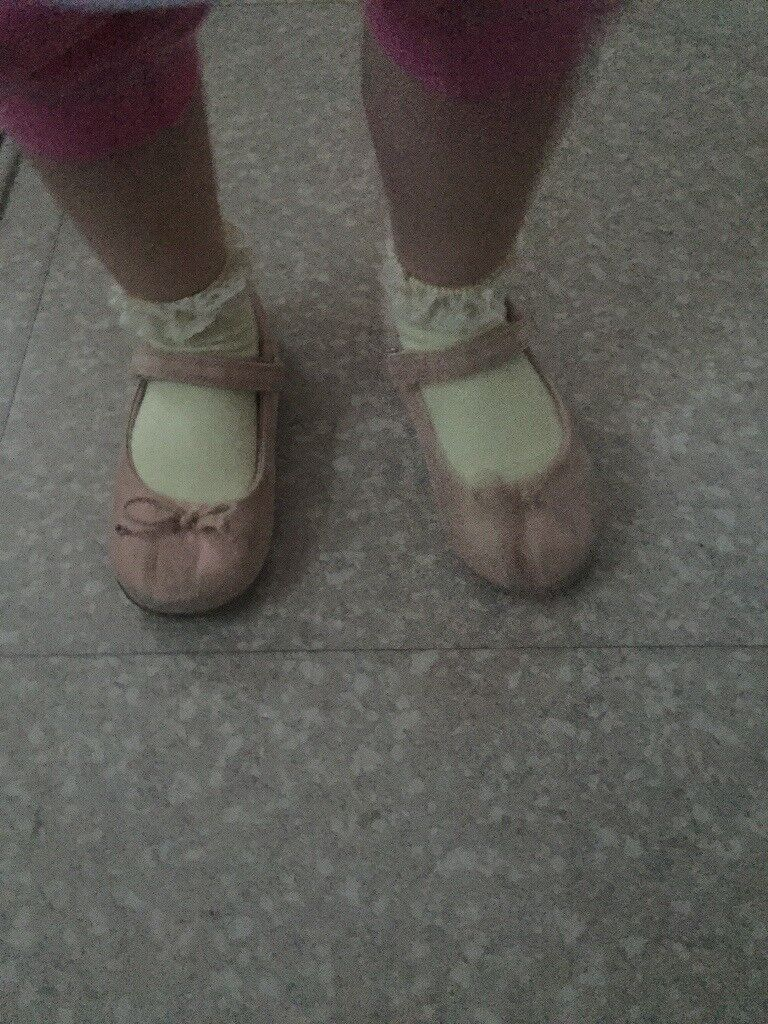 Baby girl toddler shoes size 9 next cream pastel colour