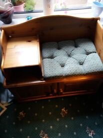 for sale a pine telephone table/stool