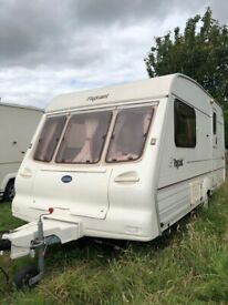 Bailey magenta caravan