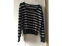 Black and white jumper - size 18
