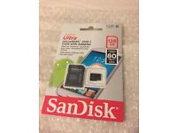 SANDISK 128GB MICRO SD CARD BRAND NEW