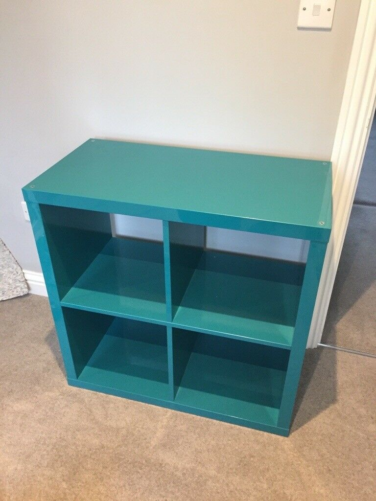 low priced 5808c 7c850 Ikea Kallax square unit (high gloss turquoise) | in Godalming, Surrey |  Gumtree