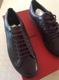 Hugo boss futessio maroon casual shoes £70.00