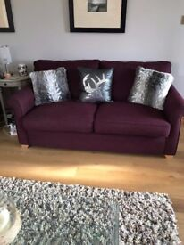 Sofa - 3 seater - purple