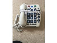 HOME TELEPHONE WITH LARGE BUTTONS