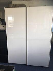 Superb condition Ikea white cupboard, sliding doors