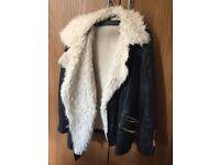 Faux leather/wool jacket size 10