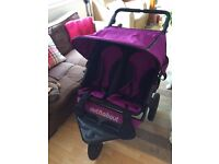 Out N About 360 double pushchair for sale. Excellent condition.