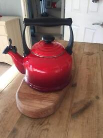 Le creuset red whistle kettle