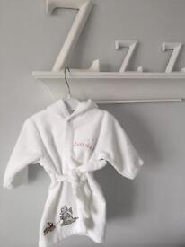 NEW Baby Boy Girl 0 - 6 Months Humphrey's Corner Bathrobe Dressing Gown RRP £22